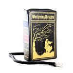 Wuthering Heights Vintage Book Clutch Bag in Vinyl, side view