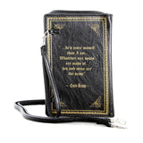 Wuthering Heights Vintage Book Clutch Bag in Vinyl, back view