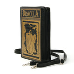 Dracula Book Cross Body Bag in Vinyl, black color, side view
