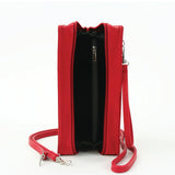 Dracula Book Cross Body Bag in Vinyl, red color, interior view