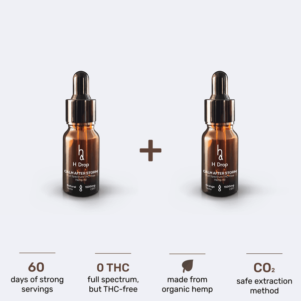 2x Calm after Storm (15% CBD oil) package (-40%) - H Drop