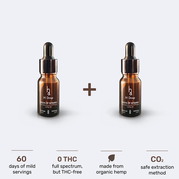 2x Joys of Spring (5% CBD oil) package (-40%) - H Drop