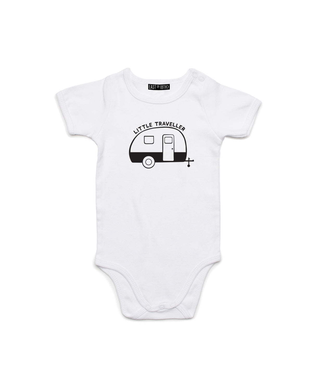 Little Traveller | Baby Bodysuit - Personalised Clothing | EAST ON 18th