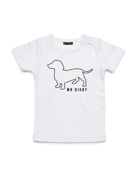 Mr Digby Line Art  | Baby T-Shirt - Personalised Clothing | EAST ON 18th