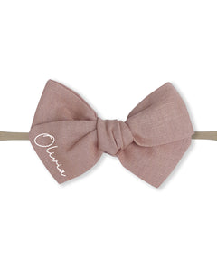 Name Baby Headband | Bow - Personalised Clothing | EAST ON 18th