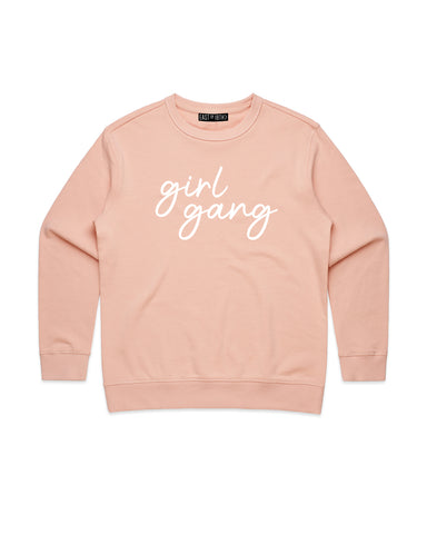 PRE ORDER Girl Gang | Adult Crew Neck Jumper - Personalised Clothing | EAST ON 18th