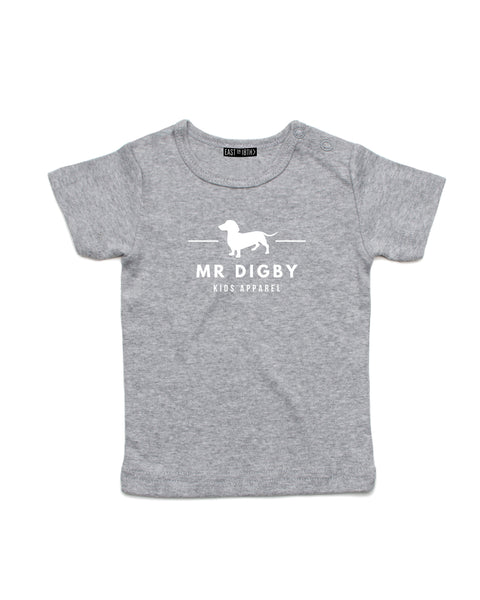 Mr Digby Classic  | Baby T-Shirt - Personalised Clothing | EAST ON 18th