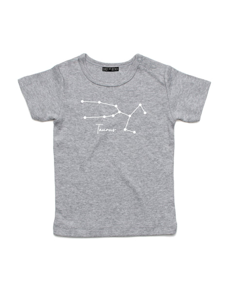 Taurus | Baby T-Shirt - Personalised Clothing | EAST ON 18th