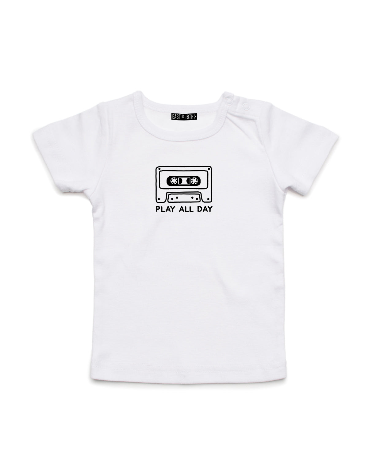 Play All Day | Baby T-Shirt - Personalised Clothing | EAST ON 18th