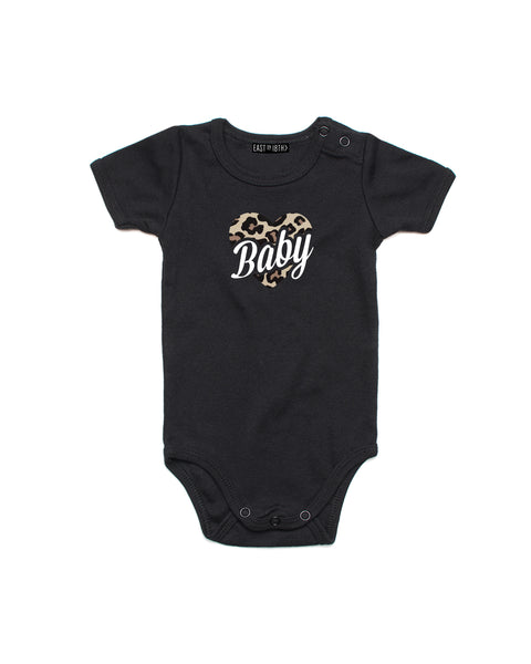 Leopard Heart Matching Mini | Baby Bodysuit - Personalised Clothing | EAST ON 18th