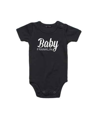 Baby Name | Baby Bodysuit - Personalised Clothing | EAST ON 18th