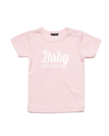 Baby Name | Baby T-Shirt - Personalised Clothing | EAST ON 18th