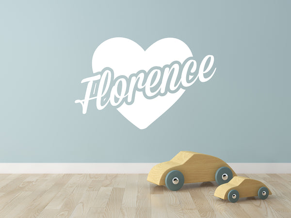 Heart Name | Wall Decal - Personalised Clothing | EAST ON 18th