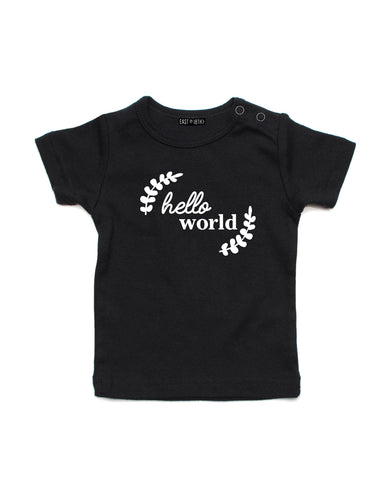 Hello World | Baby T-Shirt - Personalised Clothing | EAST ON 18th