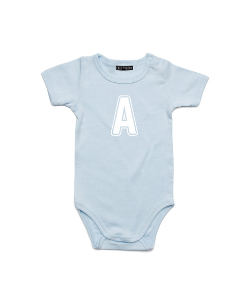 Varsity Initial | Baby Bodysuit - Personalised Clothing | EAST ON 18th