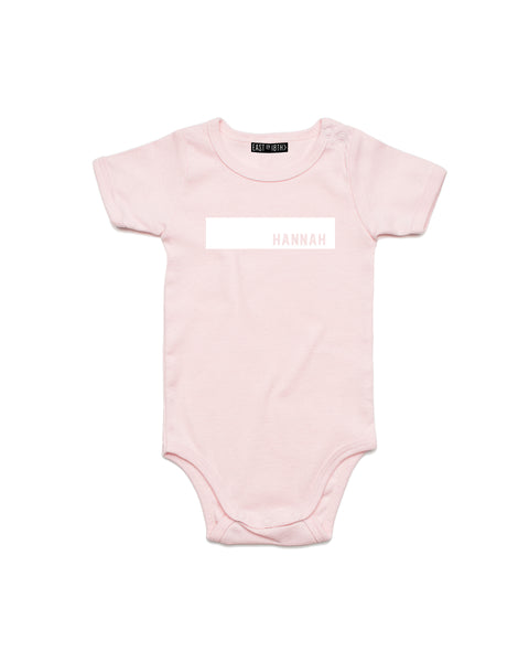 Block Name | Baby Bodysuit - Personalised Clothing | EAST ON 18th