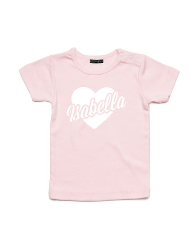 Heart Name | Baby T-Shirt - Personalised Clothing | EAST ON 18th