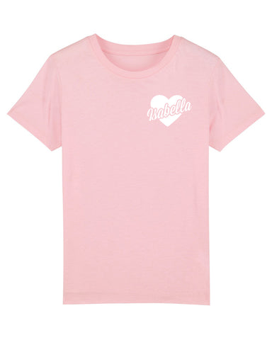 Heart Name | Kids T-Shirt - Personalised Clothing | EAST ON 18th