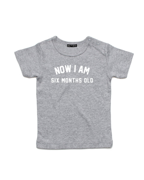 Now I Am | Baby T-Shirt - Personalised Clothing | EAST ON 18th