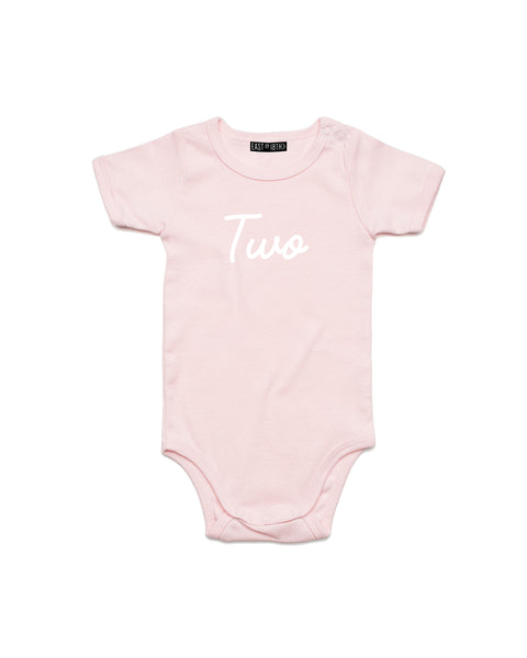 Script Age | Baby Bodysuit - Personalised Clothing | EAST ON 18th