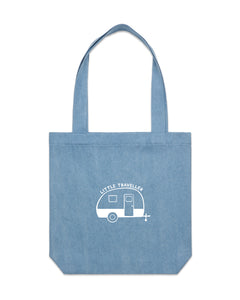 Little Traveller | Denim Tote - Personalised Clothing | EAST ON 18th