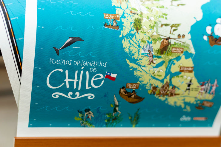 Chile Pueblos Originarios en Canvas