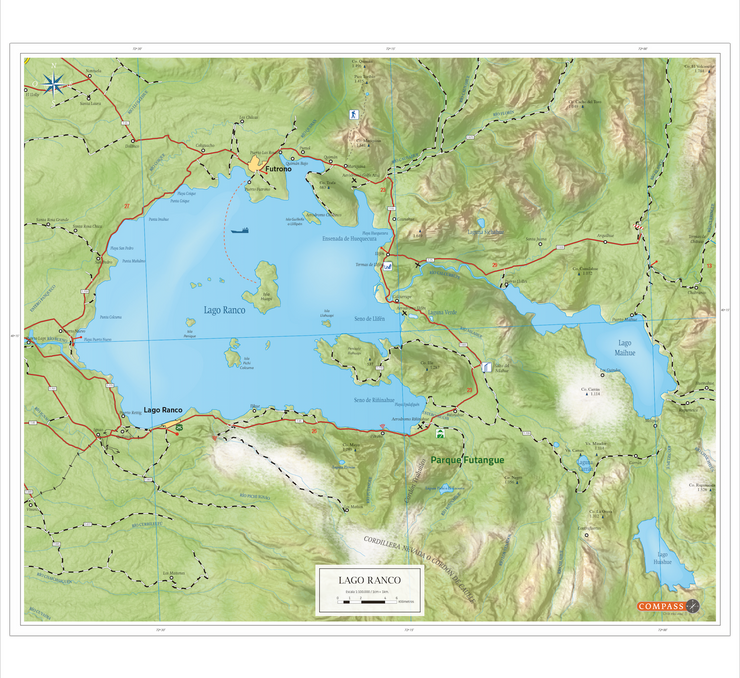 Mapa Lago Ranco