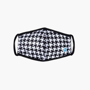 B/W Houndstooth Face Mask - 1929 Mask