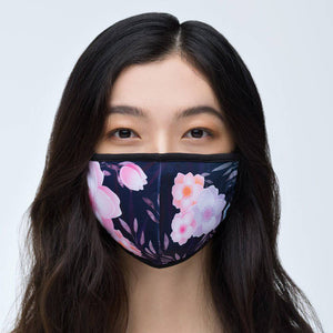 Black Floral Face Mask - 1929 Mask
