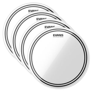 "Evans Drums and Percussion / Parts and Accessories / Heads Evans 16"" EC Resonant Tom Drum Head (4 Pack Bundle)"