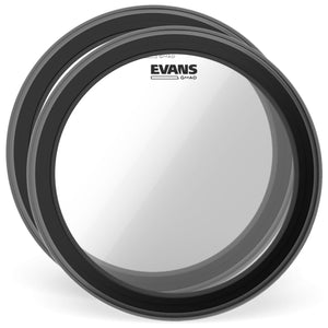 "Evans Drums and Percussion / Parts and Accessories / Heads Evans 22"" GMAD Bass Drum Batter Head Clear (2 Pack Bundle)"
