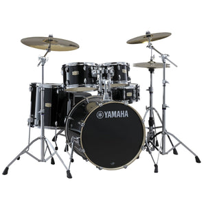Yamaha Drums and Percussion / Acoustic Drums / Full Acoustic Kits Yamaha Stage Custom 12/14/18 3pc. Drum Kit Raven Black