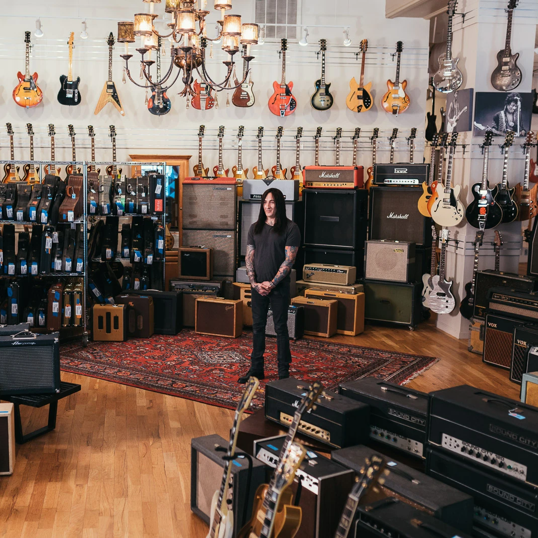 Richard Fortus with his Collection