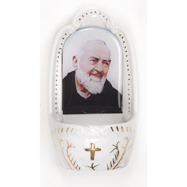Saint Padre Pio Holy Water Font