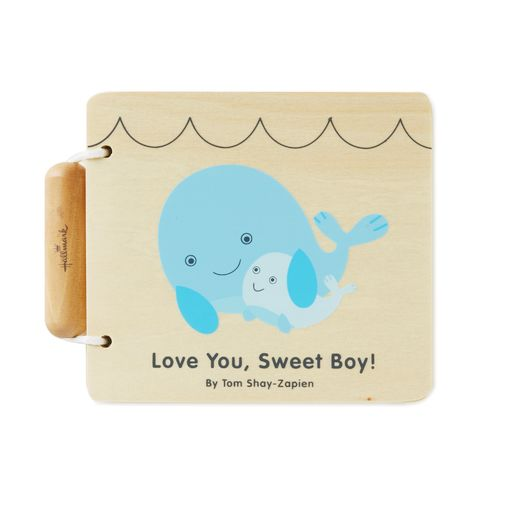 Love You, Sweet Boy! Wood Whale Book