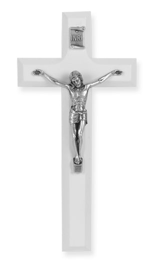 White Wood Crucifix