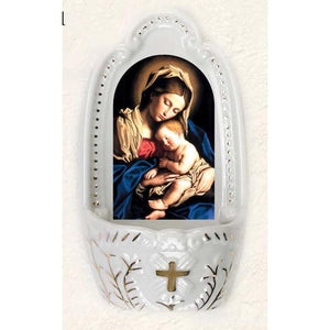 Mother and Child Holy Water Font