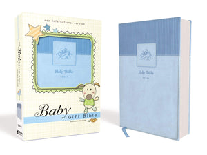 Baby Blue Gift Bible Leathersoft
