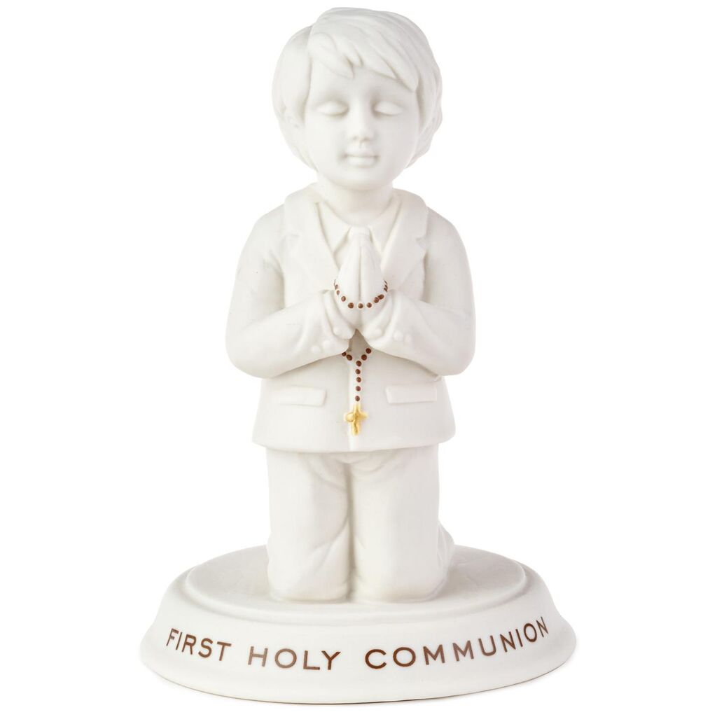 Boy First Holy Communion Porcelain Figurine, 5