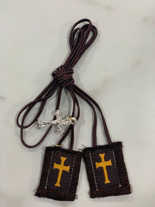 Small Brown Scapular with Regular Cord