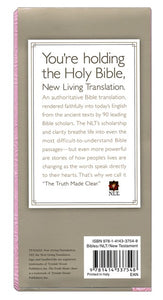 Pocket Thinline New Testament with Psalms & Proverbs (Red Letter, LeatherLike, Pink), NLT