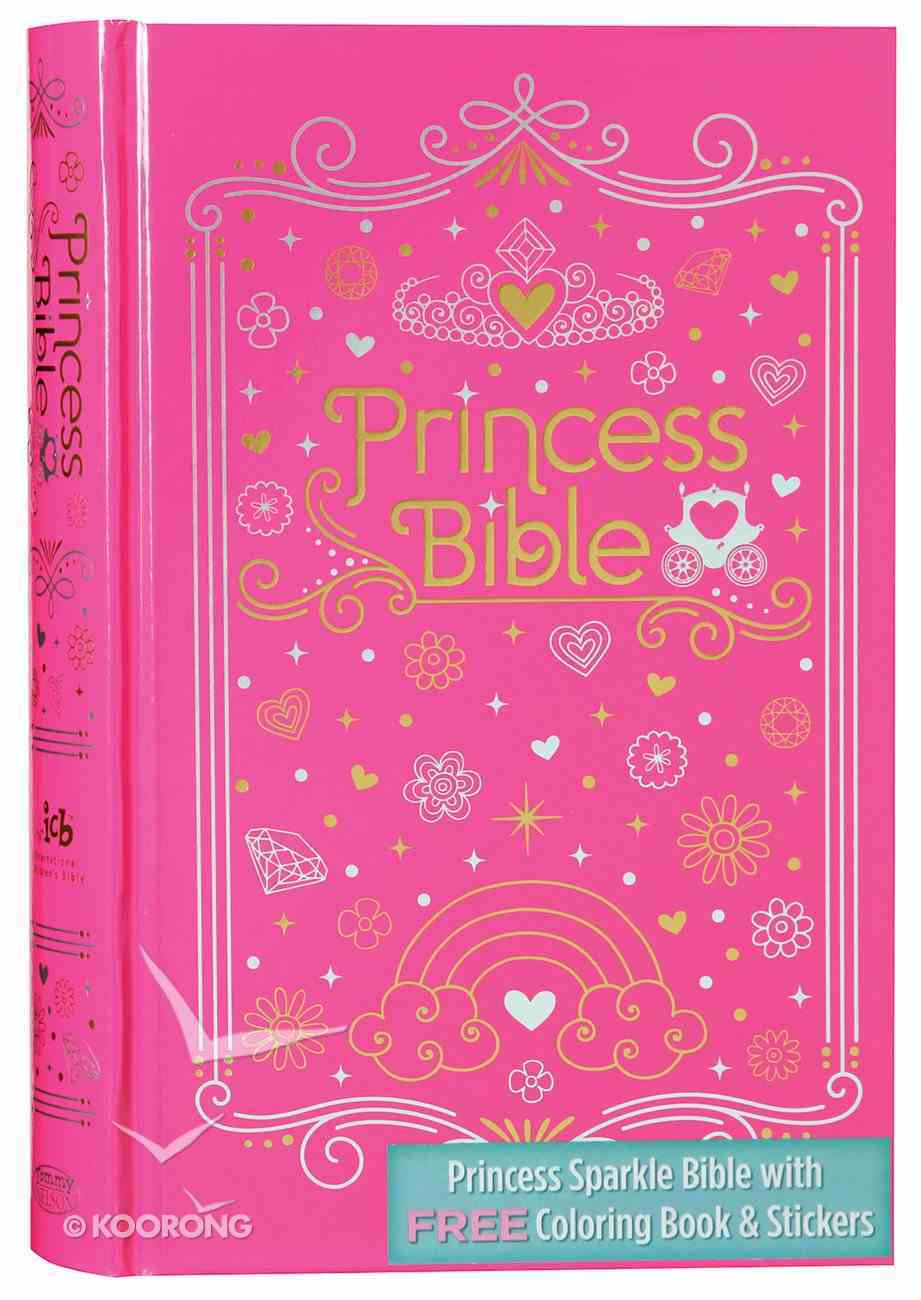 Princess Sparkle Bible with Coloring Book with Stickers, ICB