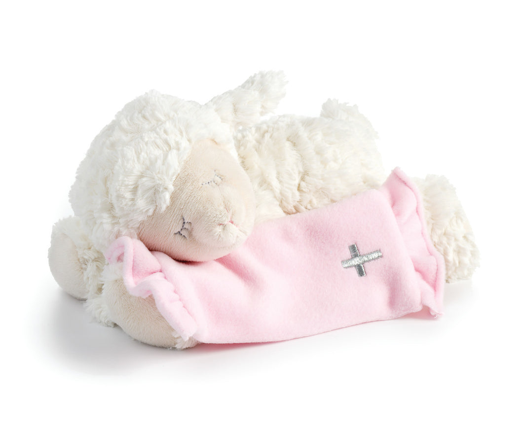 Pink Now I Lay Me Down To Sleep Lamb