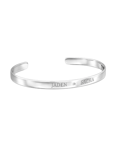 2 Names Bangle - Sterling Silver -Sterling Silver- The Adorned-