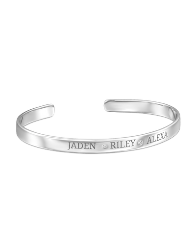 3 Names Bangle - Sterling Silver -Sterling Silver- The Adorned-