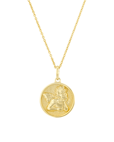 Angel Coin -18K Yellow Gold Plated- The Adorned-