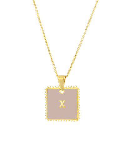 Enamel Emblem (Roman Numeral) -18K Yellow Gold Plated- The Adorned-