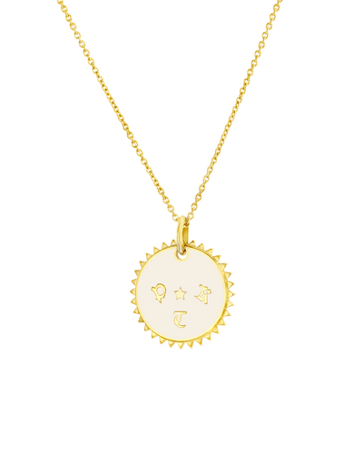 Enamel Medallion (3 Initials) -18K Yellow Gold Plated- The Adorned-