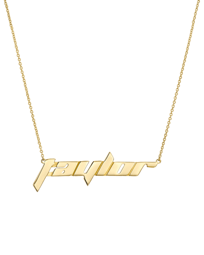Racing Nameplate -18K Yellow Gold Plated- The Adorned-
