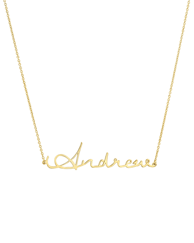 Signature Nameplate -18K Yellow Gold Plated- The Adorned-